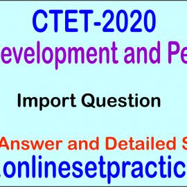 CTET CDP Question