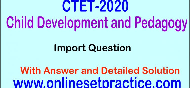 CTET CDP Question