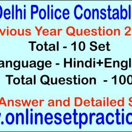 Delhi Police Constable Question Previous Year