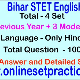 Bihar STET English Online  Test Series