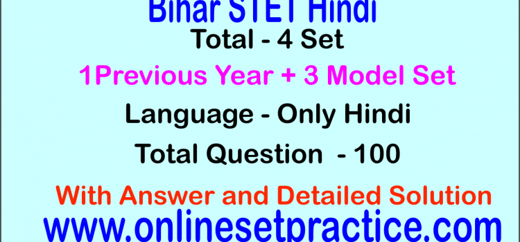Bihar STET Hindi Online  Test Series