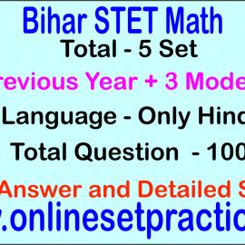 Bihar STET Mathematics Online  Test Series