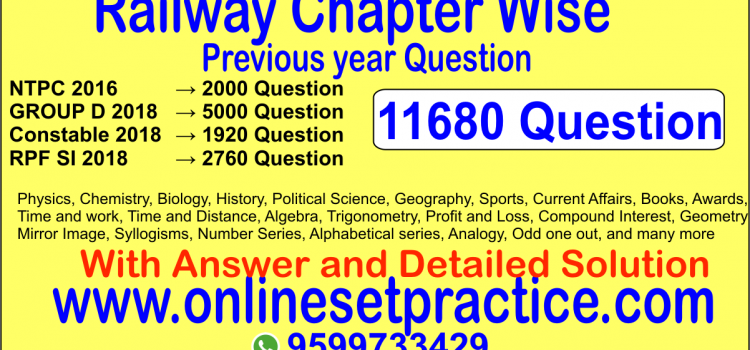 Railway Chapter wise Question 11680